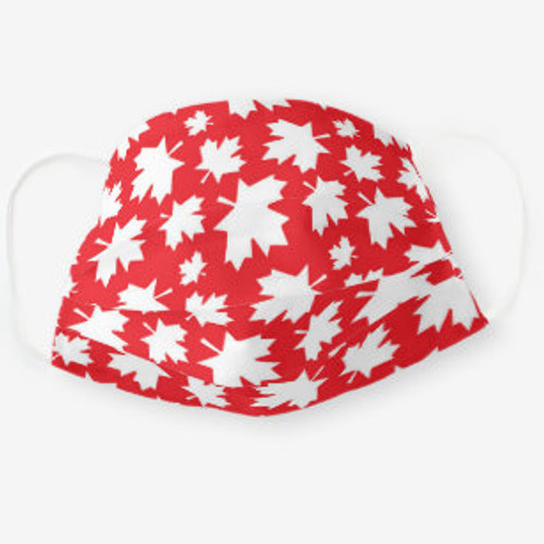 Canadian Maple Leaf Washable Face Mask - Red/White