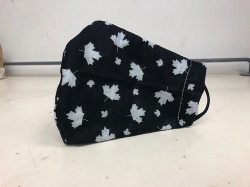 Canadian Maple Leaf Washable Face Mask - Black/White