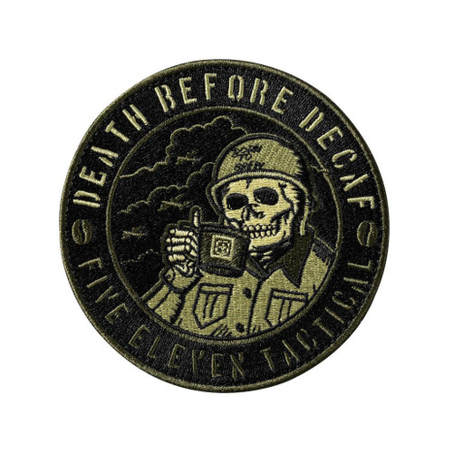 """5.11 Tactical """"World War Coffee"""" Hook & Loop Embroidered Morale Patch"""