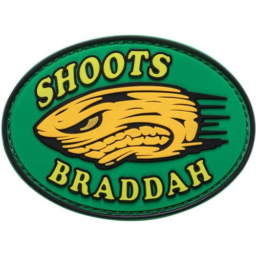 "5.11 Tactical ""Shoots Braddah"" Hook & Loop PVC Morale Patch"