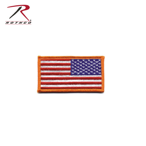 Rothco Mini US Flag Patch With Hook Back - Red/White/Blue