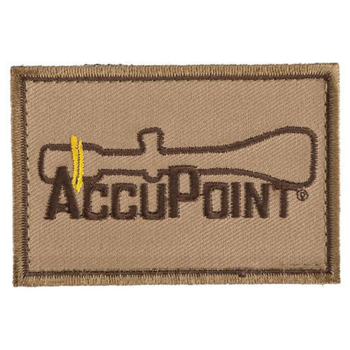 """Trijicon """"Accupoint"""" Hook and Loop Morale Patch - Khaki"""