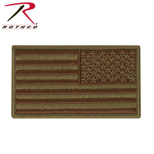 Reverse Scorpion OCP USAF Spice Brown Tactical Flag w/Hook Back