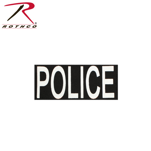 """Rothco Police Patch With Hook Back - 4"""" X 10 ¾"""""""