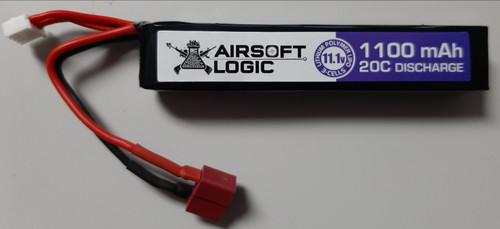 Airsoft Logic 11.1V Li-po Battery 1100MAH Stick (Dean)