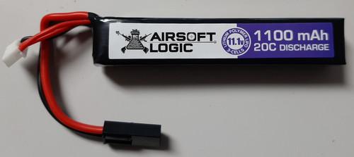 Airsoft Logic 11.1V Li-po Battery 1100MAH Stick (Mini Tamiya)