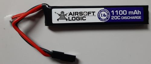 Airsoft Logic 7.4V Li-po Battery 1100MAH Stick (Mini Tamiya)