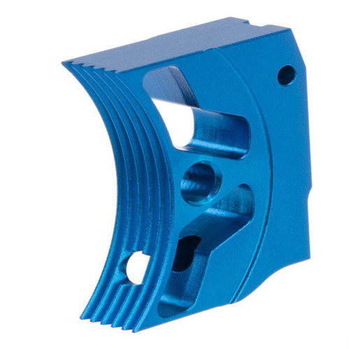 Airsoft Masterpiece EDGE Aluminum Trigger for Hi-CAPA / 1911 Gas Blowback Airsoft Pistols - Type 3 (Color: Blue)