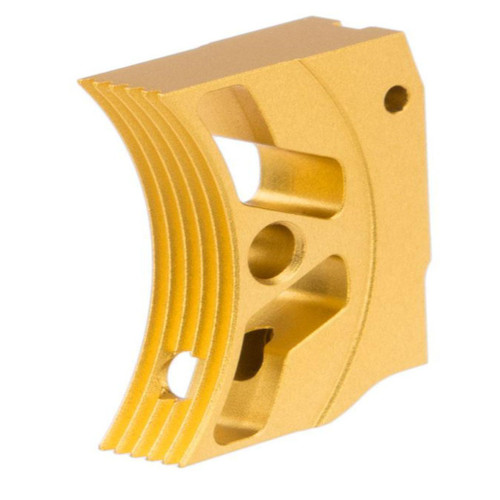 Airsoft Masterpiece EDGE Aluminum Trigger for Hi-CAPA / 1911 Gas Blowback Airsoft Pistols - Type 3 (Color: Gold)