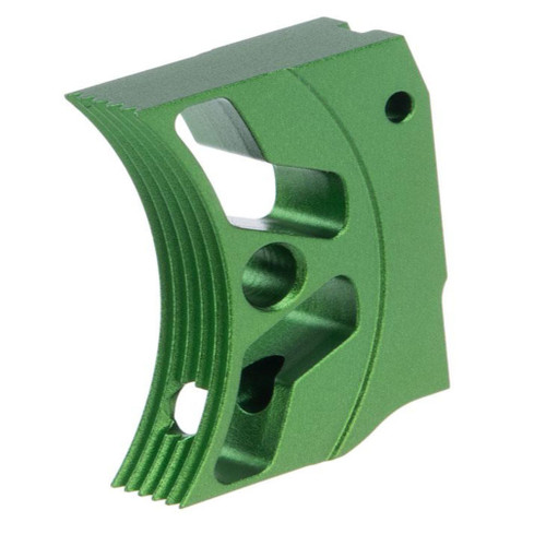 Airsoft Masterpiece EDGE Aluminum Trigger for Hi-CAPA / 1911 Gas Blowback Airsoft Pistols - Type 3 (Color: Green)