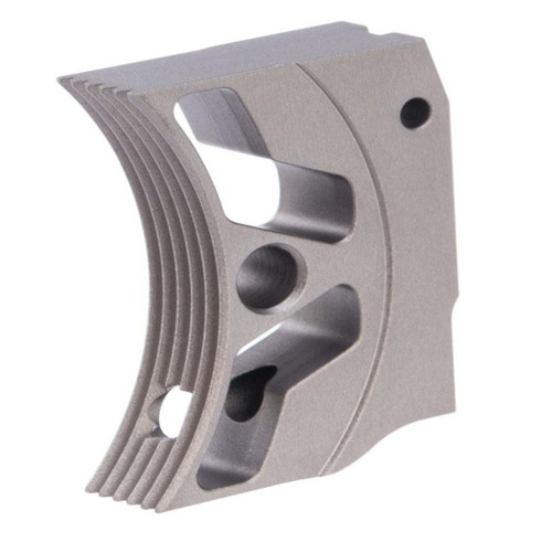 Airsoft Masterpiece EDGE Aluminum Trigger for Hi-CAPA / 1911 Gas Blowback Airsoft Pistols - Type 3 (Color: Grey)