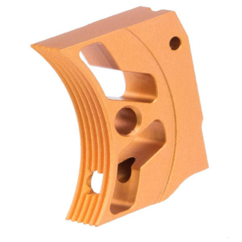Airsoft Masterpiece EDGE Aluminum Trigger for Hi-CAPA / 1911 Gas Blowback Airsoft Pistols - Type 3 (Color: Orange)
