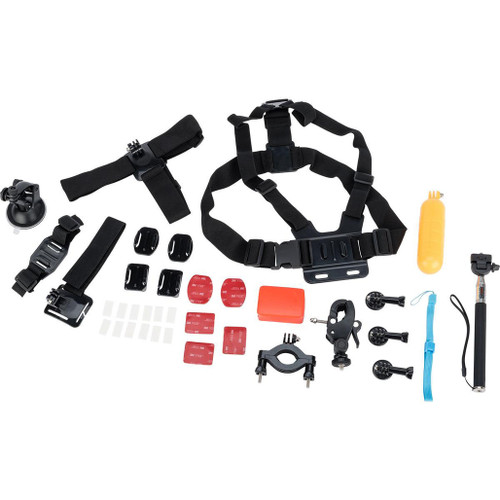 Ausek Sport Cameras Accessory Pack for Ausek and GoPro Style Action Cameras (Model: 30-piece Kit)