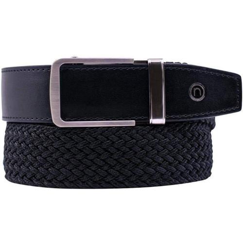 "NexBelt PreciseFit ""Classic"" Micro Adjustment Ratcheting Braided Belt (Color: Black w/ Chrome Buckle)"