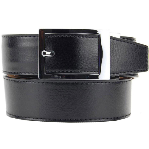 "NexBelt PreciseFit ""Classic"" Micro Adjustment Ratcheting Leather Dress Belt (Color: Black w/ Chrome Buckle)"