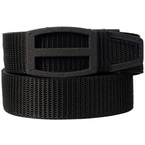 "NexBelt PreciseFit ""Titan BD"" Micro Adjustment Ratcheting Nylon Gun Belt (Color: Black w/ Powder Coat Granite Black Buckle)"