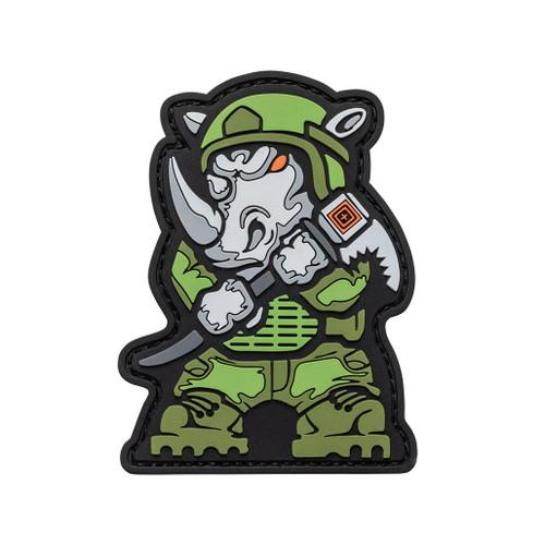 "5.11 Tactical ""Rhino Breacher"" Hook & Loop PVC Morale Patch"