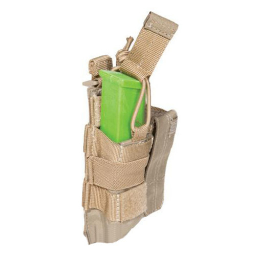 5.11 Tactical Double Pistol Bungee Cover Magazine Pouch - Sandstone