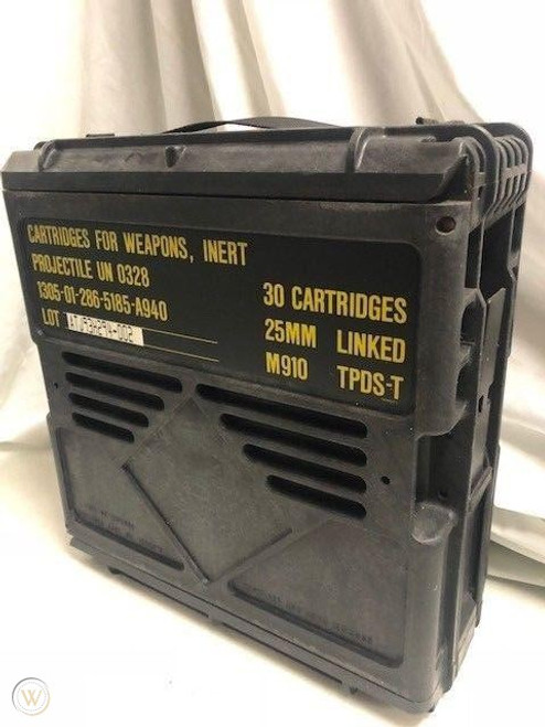 U.S. Armed Forces 25mm Linked Ammo Can