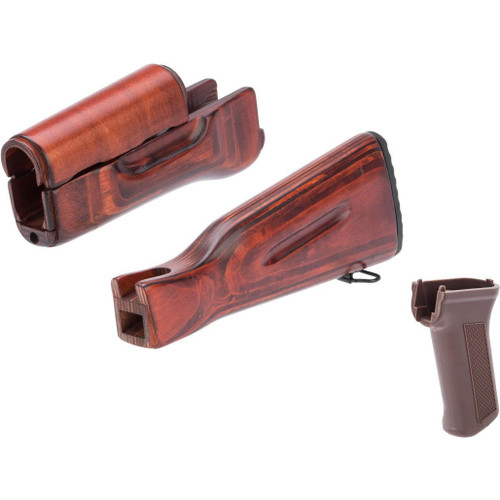 LCT Airsoft Wooden Stock and Grip Set for LCK74 Series Airsoft Rifles