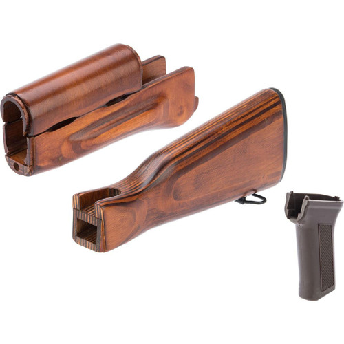 LCT Airsoft Wooden Stock and Grip Set for LCKM Series Airsoft Rifles (Color: Modern)