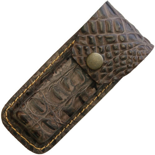 Leather Belt Sheath Crocodile