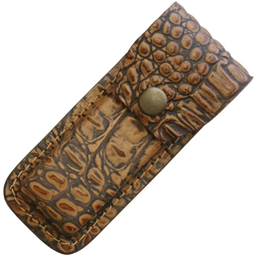 Leather Belt Sheath Alligator