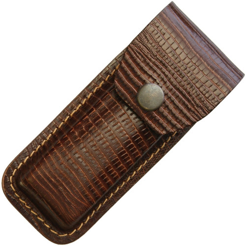 Leather Belt Sheath Lizard