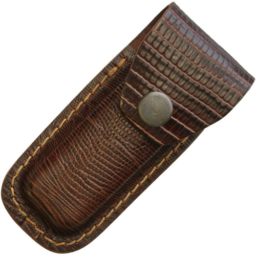 Leather Belt Pouch Lizard