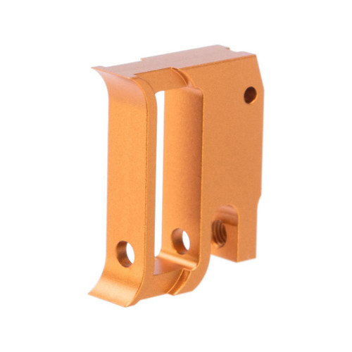 Airsoft Masterpiece EDGE Aluminum Trigger for Hi-CAPA / 1911 Gas Blowback Airsoft Pistols - Type 1 (Color: Orange)