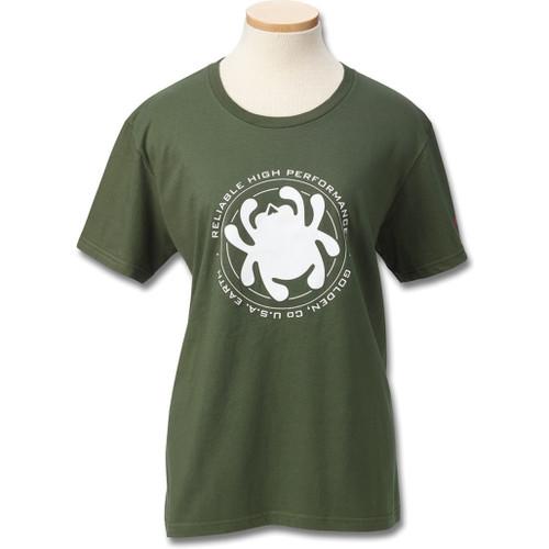 Womens T-Shirt Green Bug S