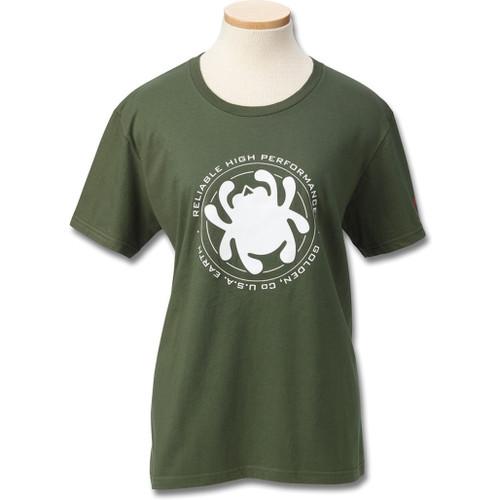 Womens T-Shirt Green Bug L