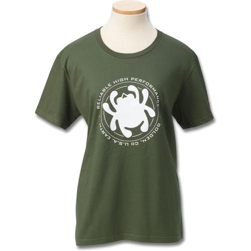 Womens T-Shirt Green Bug XL