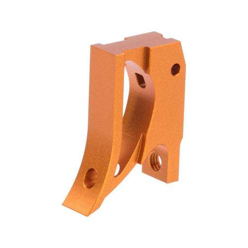 Airsoft Masterpiece EDGE Aluminum Trigger for Hi-CAPA / 1911 Gas Blowback Airsoft Pistols - Type 2 (Color: Orange)