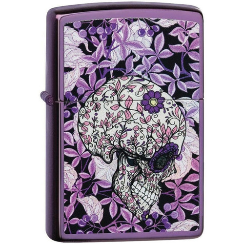 Floral Skull Lighter