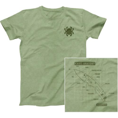 Knife Anatomy T-Shirt XXL