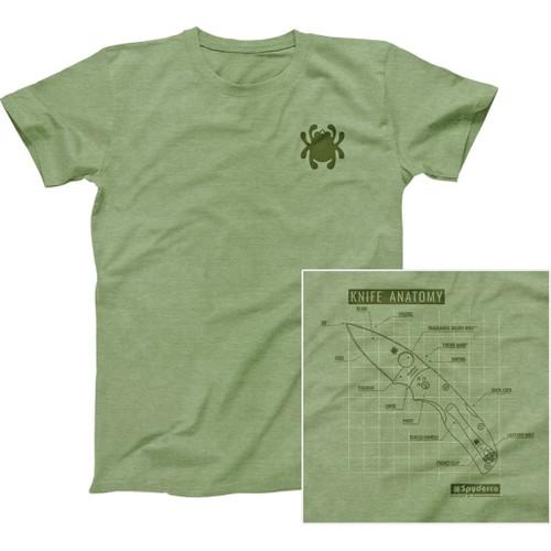 Knife Anatomy T-Shirt Med