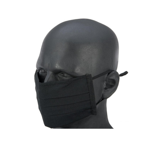 Matrix Strengthened Tactical Anti-Epidemic Reusable Face Mask Sleeve for Disposable Face Masks (Color: Black)