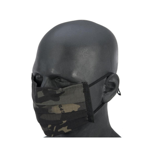 Matrix Strengthened Tactical Anti-Epidemic Reusable Face Mask Sleeve for Disposable Face Masks (Color: Multicam Black)