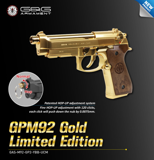 G&G GPM92 GP2 Limted GOLD EDITION