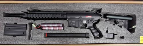 Echo1 ER-25K w/ Mock Silencer AEG Airsoft Gun - BONEYARD