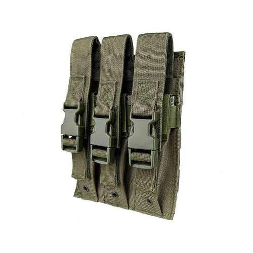 VISM by NcStar Triple Hicap Pistol / SMG Magazine Pouch (Color: OD Green)