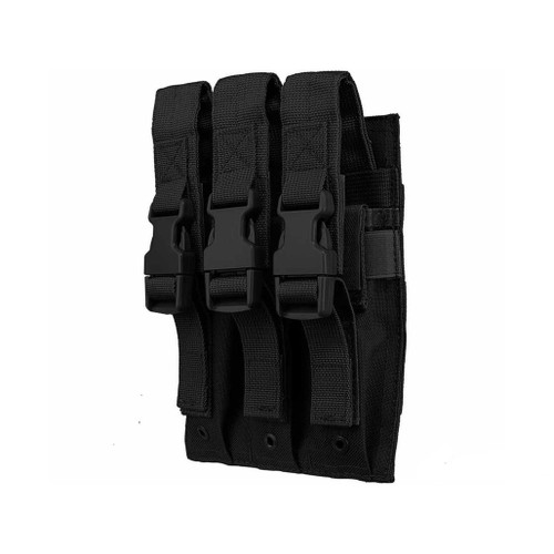 VISM by NcStar Triple Hicap Pistol / SMG Magazine Pouch (Color: Black)