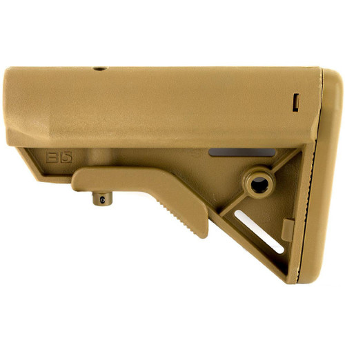 B5 Systems SOPMOD BRAVO Retractable Stock for AR15 Rifles (Model: Mil-Spec / Quick Detach Mount / Coyote Brown)