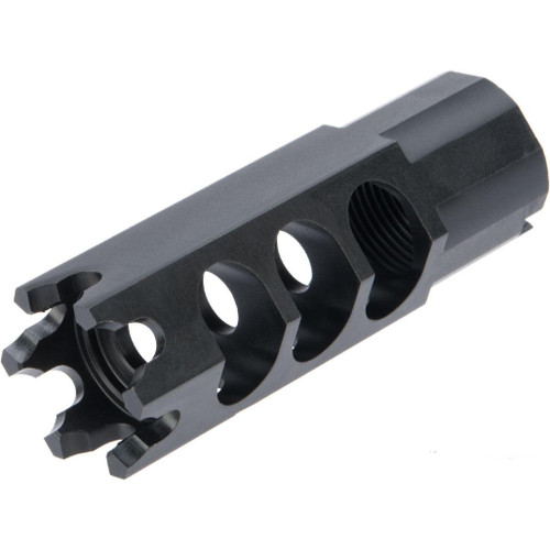 LCT Steel Hexagon Flash Hider for AK Series Airsoft AEG Rifles (Type: 24mm / AK74 Type)