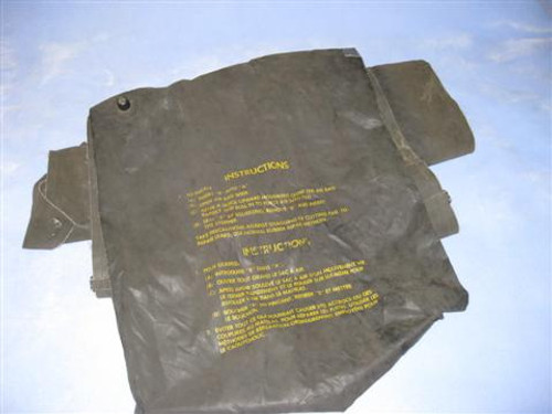 Canadian Armed Forces Black Inflatable Mattress -Missing Plug