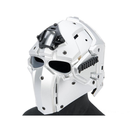 Matrix Tactical Helmet with Cooling Fan (Color: Silver)