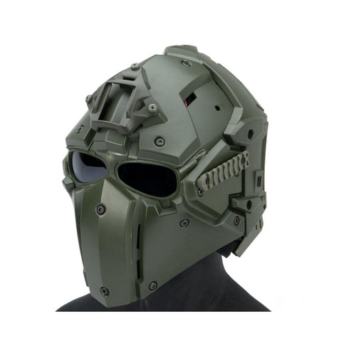 Matrix Tactical Helmet with Cooling Fan (Color: OD Green)