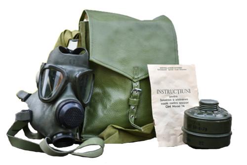 Hungarian M74 Gas Mask w/ Filter & Bag