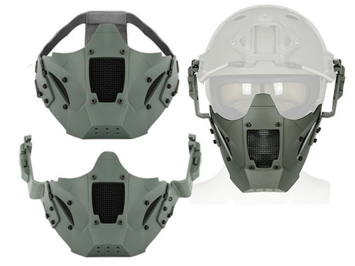 Matrix Iron Warrior Polymer and Mesh Modular Face Mask (Color: Gray)